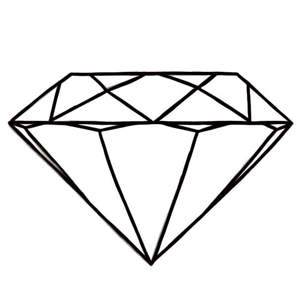 Diamond Shape Round Diamond Shape Coloring Pages Shape