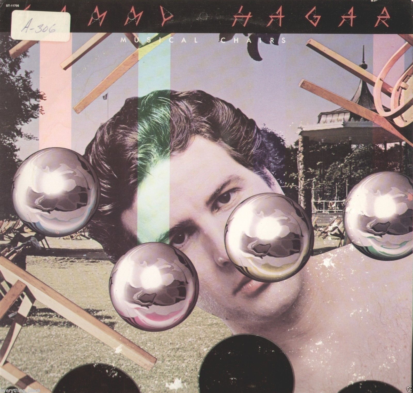 Sammy Hagar Musical Chairs Vinyl Lp Record Album Sammy Hagar Album Cover Art Musicals