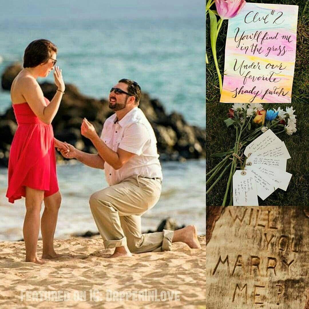 The Scavenger Hunt Beach Proposal! #PutARingOnIt