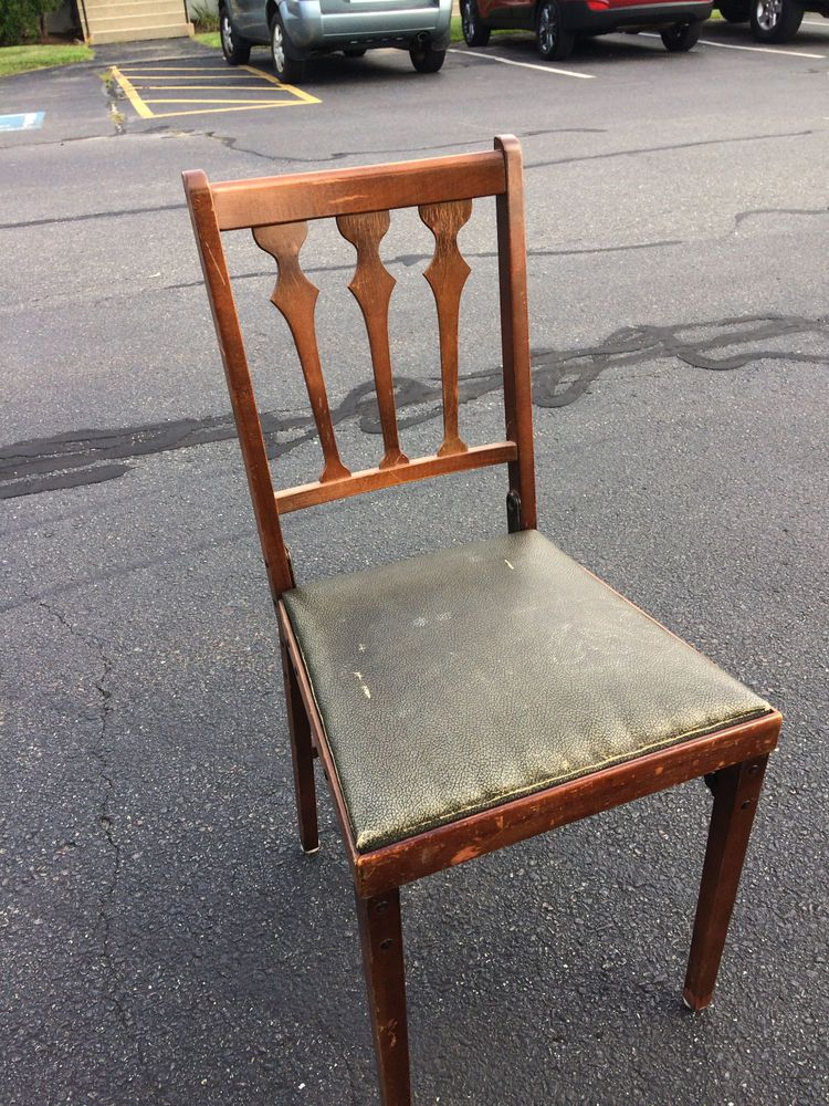 folding chair legs bistro cushion one leg o matic chairs 1940s ebay items for sale