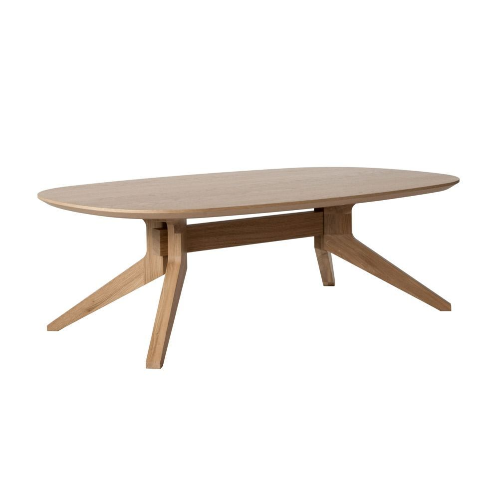 - Case Furniture Cross Oval Coffee Table - Oak Solid Wood Table