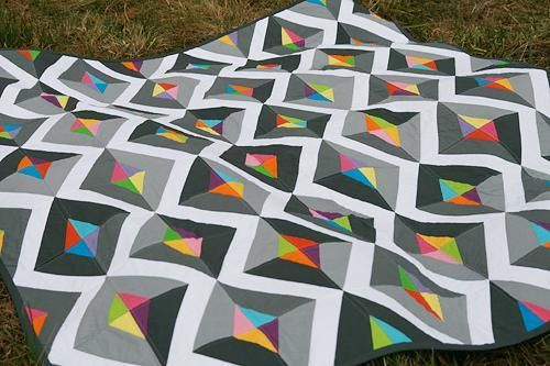 Prism Modern Quilt Pattern PDF изделия из лоскутов Pinterest New Contemporary Quilt Patterns