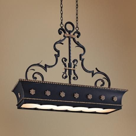 French Quarter Hanging Counter Light Chandelier LampsPluscom - Hanging counter lights
