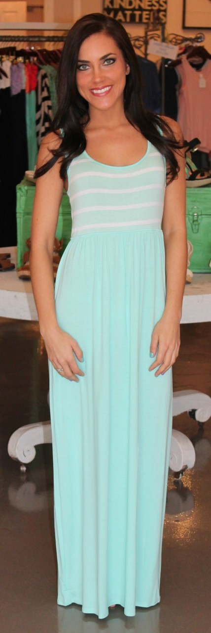 Dottie Couture Boutique - Scoop Striped Maxi- Mint, $46.00 (http://www.dottiecouture.com/scoop-striped-maxi-mint/)