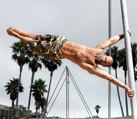 The Human Flag Celebrity Workout Jason Statham Workout Routine