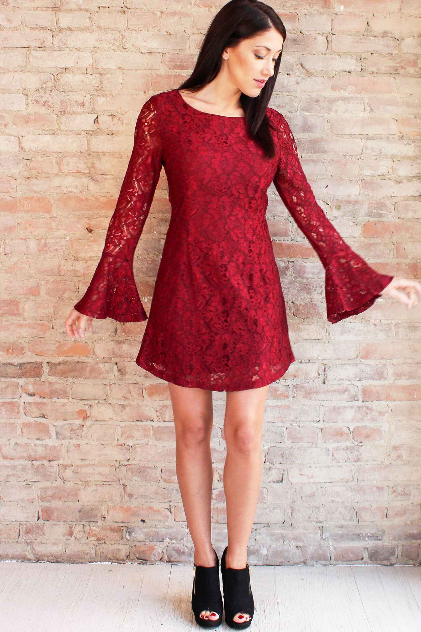 Lace dress burgundy s my best dresses pinterest lace
