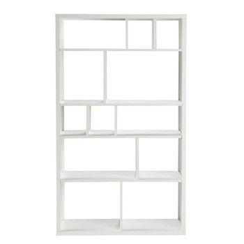 Bibliothèque en bois blanche L 100 cm | Idées | Pinterest ...