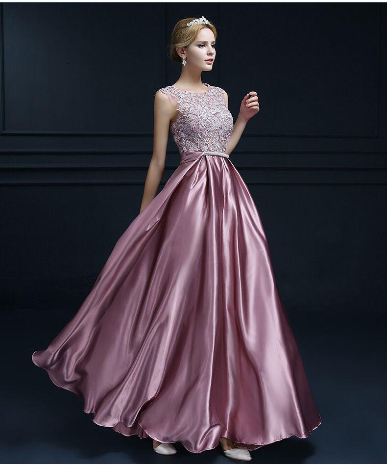 Vestido formal largo color champaña Charmeuse @ Vestidos de Fiesta ...