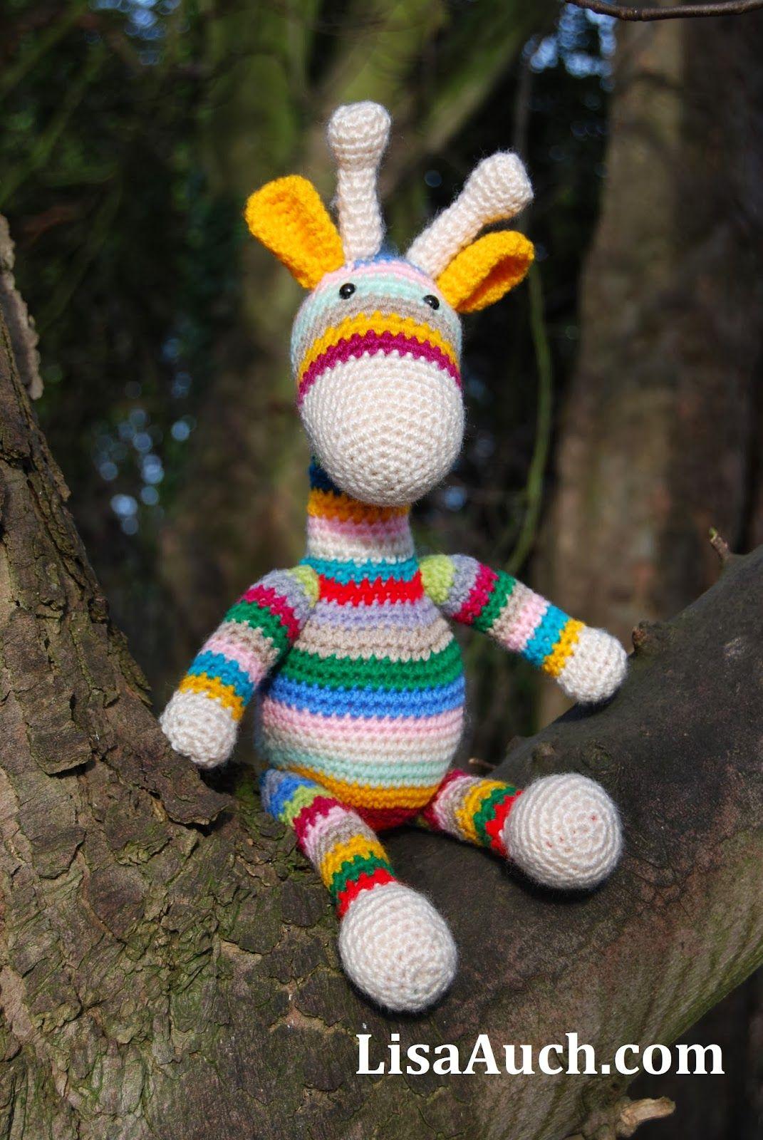giraffe crochet patterns free- crochet toy patterns easy, lisaauch ...