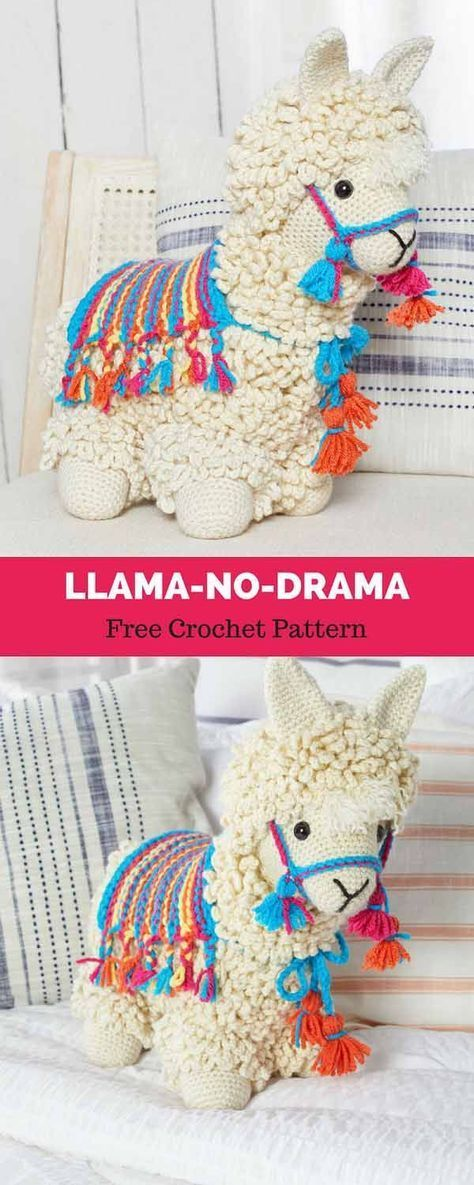 Llama-No-Drama [ Free Crochet Pattern   Muñecos en crochet, Patrones ...