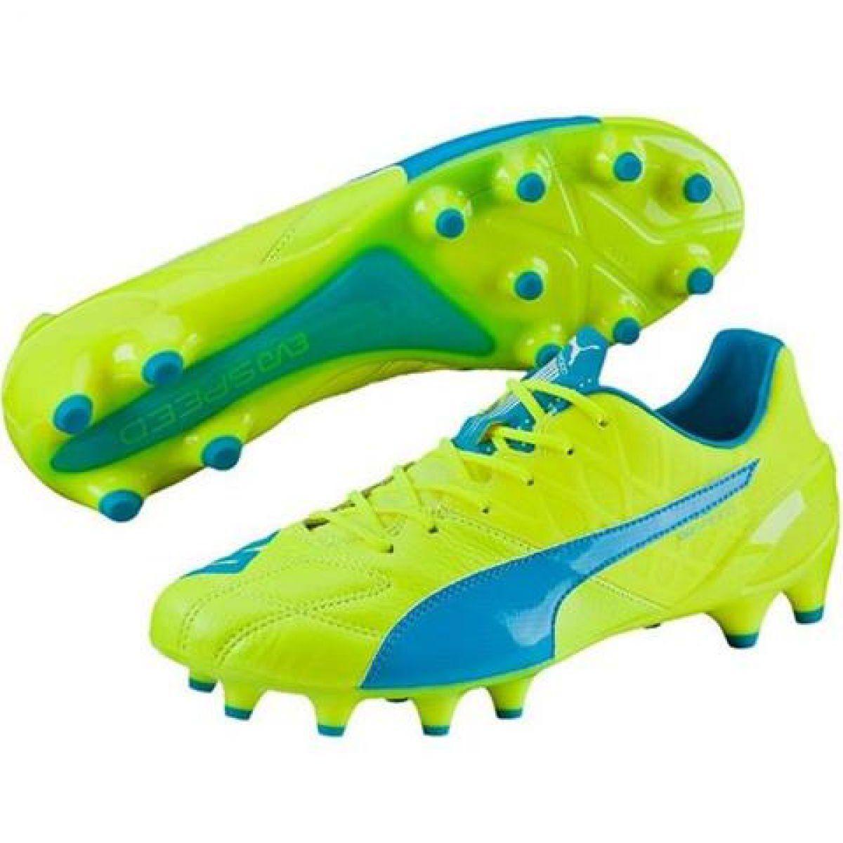 Buty Pilkarskie Puma Evo Speed 1 4 Lth Fg M 103615 03 Zolte Zolte Sport Shoes Puma Shoes