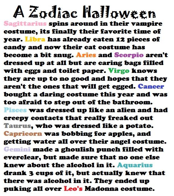 a zodiac halloween cancers zodiac horoscopes and  a zodiac halloween story i m pisces and lay year i went as heath ledger s joker nurse