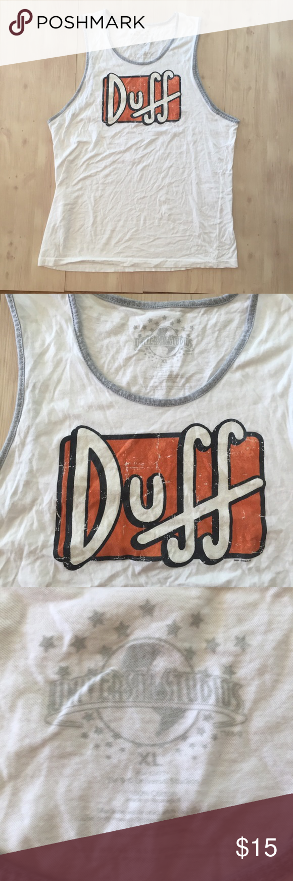 ce9c510f71639 Duff Beer The Simpsons Official Men Tank Top Sz XL Universal Studios The Simpsons  official Duff