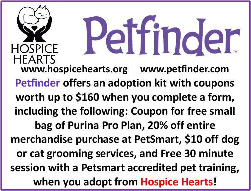 Petfinder Com Offers An Adoption Kit With Coupons Worth Up To 160 When You Complete A Form Including The Following Cou Cat Grooming Purina Pro Plan Petsmart