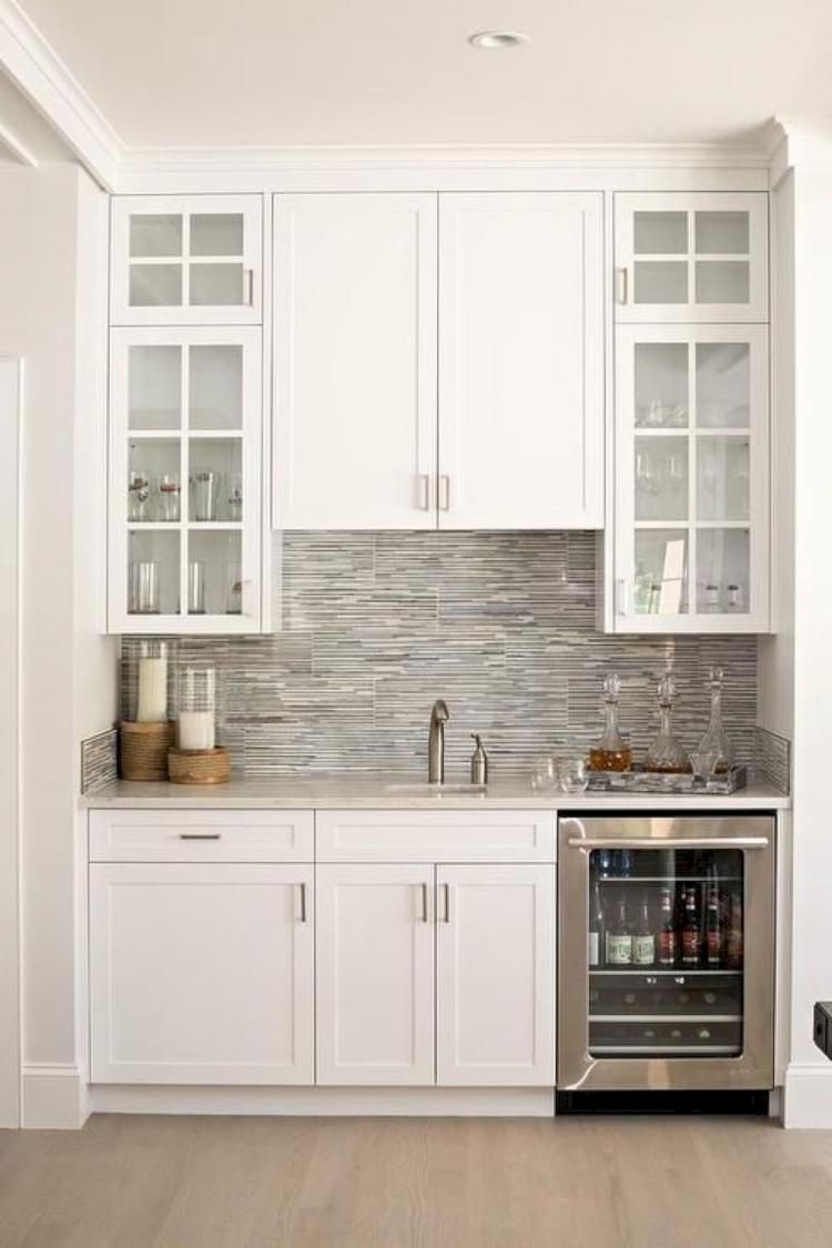 95 Astonishing White Kitchen Design And Decor Ideas Grey Dining Room Kitchen Remodel Built In Microwave Cabinet