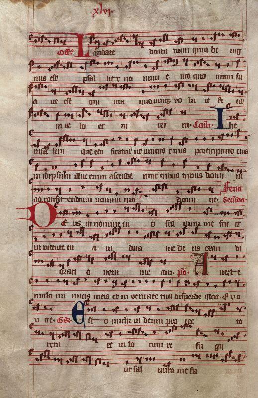 Moosburger Graduale um 1360 Moosburg Cim. 100 (= 2° Cod. ms. 156)  Folio 96