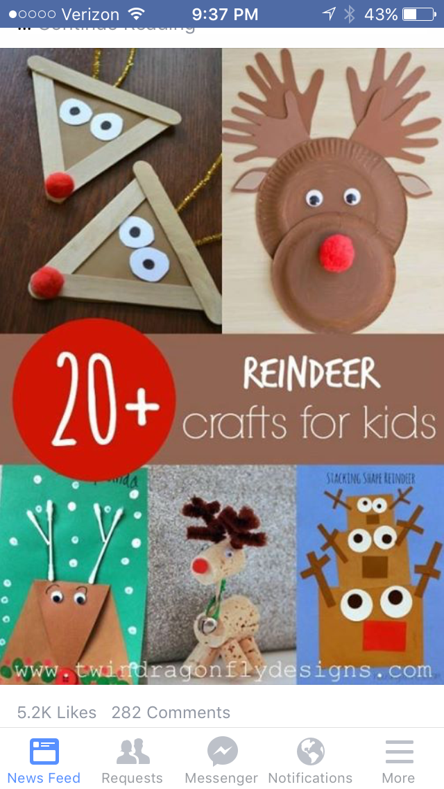 Christmas Craft Ideas For 2nd Graders Part - 42: Reindeer Crafts For Kids - These Would Be Great Reindeer Art Projects For  The Elementary Classroom!