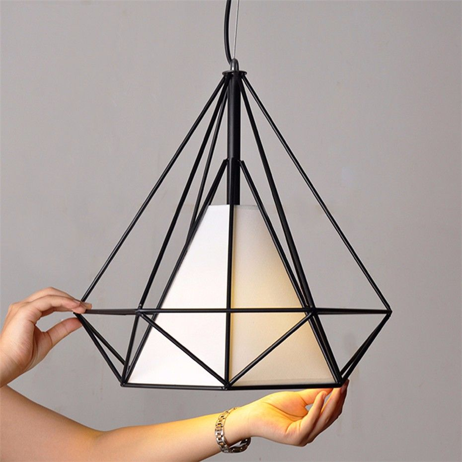 White black pyramid art deco lamp pendant lamps light covers loft white black pyramid art deco lamp pendant lamps light covers loft lighting fixtures aloadofball Image collections