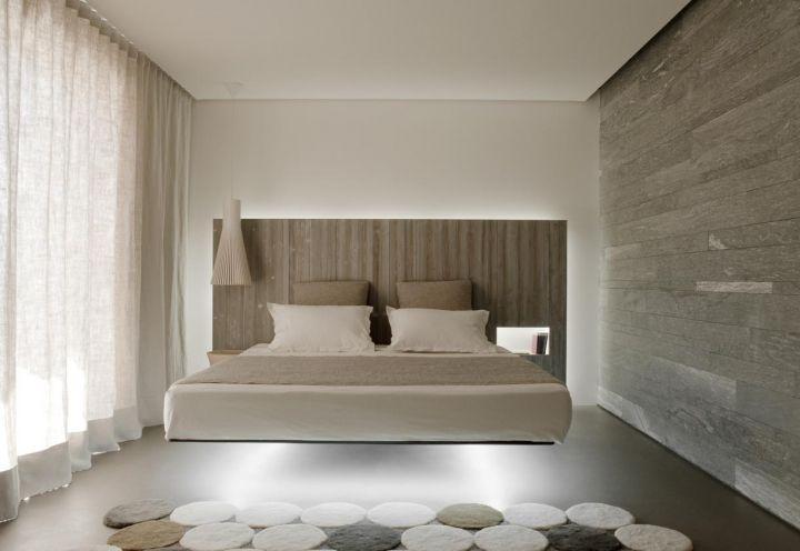 Base cromatica grigia e riposante per una delle camere da letto ...