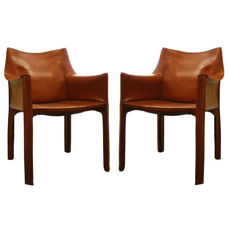 Surprising Pair Of Cognac Leather Cab Chairs By Mario Bellini 23 Ocoug Best Dining Table And Chair Ideas Images Ocougorg