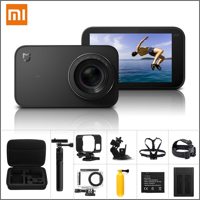 Original Xiaomi Mijia Mi Action Camera 4k 30fps Ambarella A12s75 Smart Mini Sports Cam Bluetooth Eis Wifi 2 4 Touch Action Camera Video Camera Touch Screen