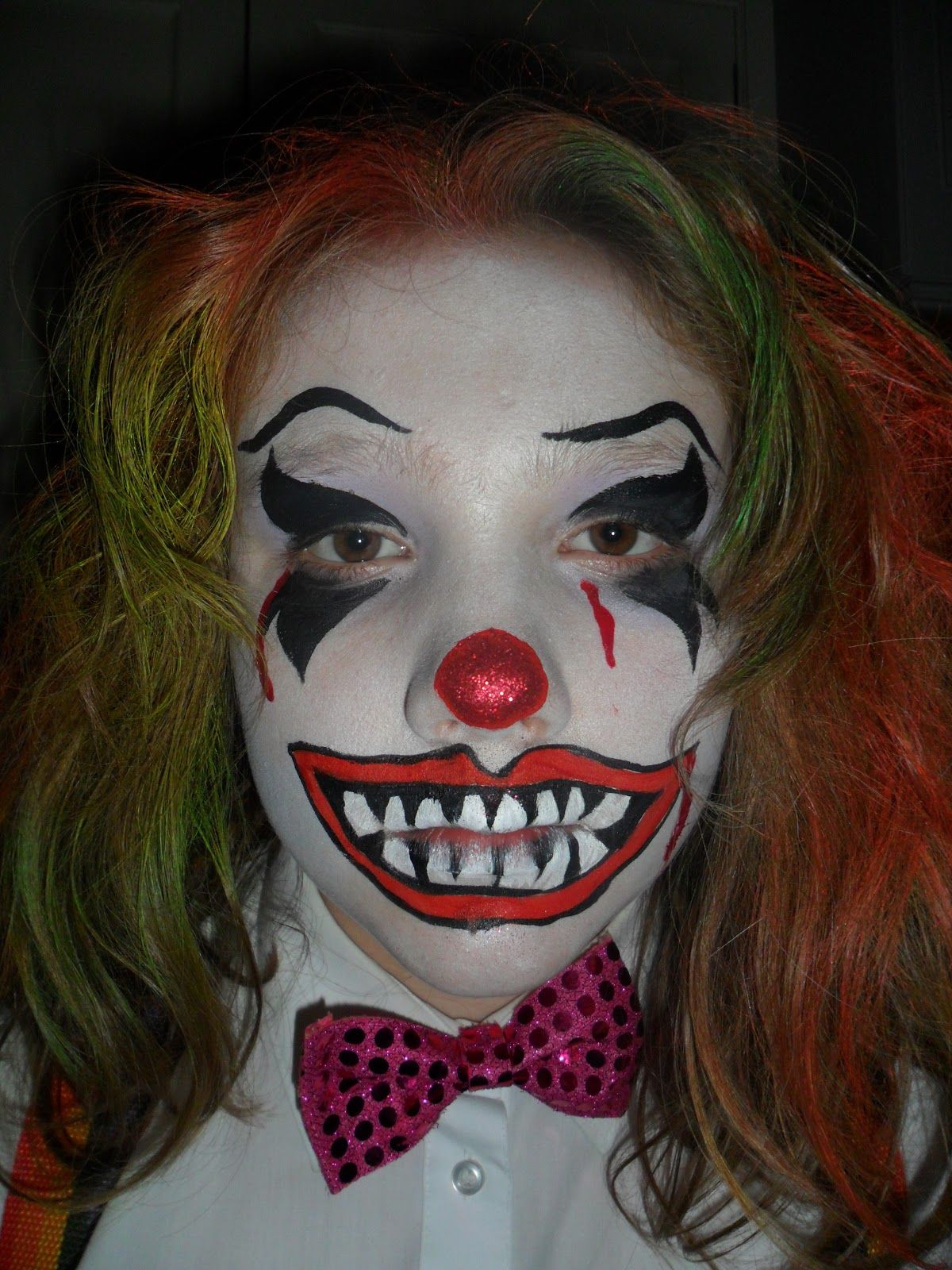 horror face painting displaying 20 images for scary clown face paint designs