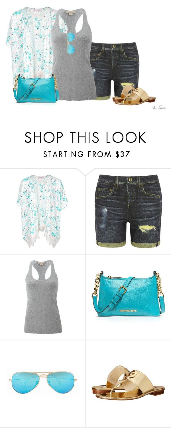 """""""Untitled #5547"""" by ksims-1 ❤ liked on Polyvore featuring Hunkemöller, rag & bone, Michael Kors, MICHAEL Michael Kors and Ray-Ban"""