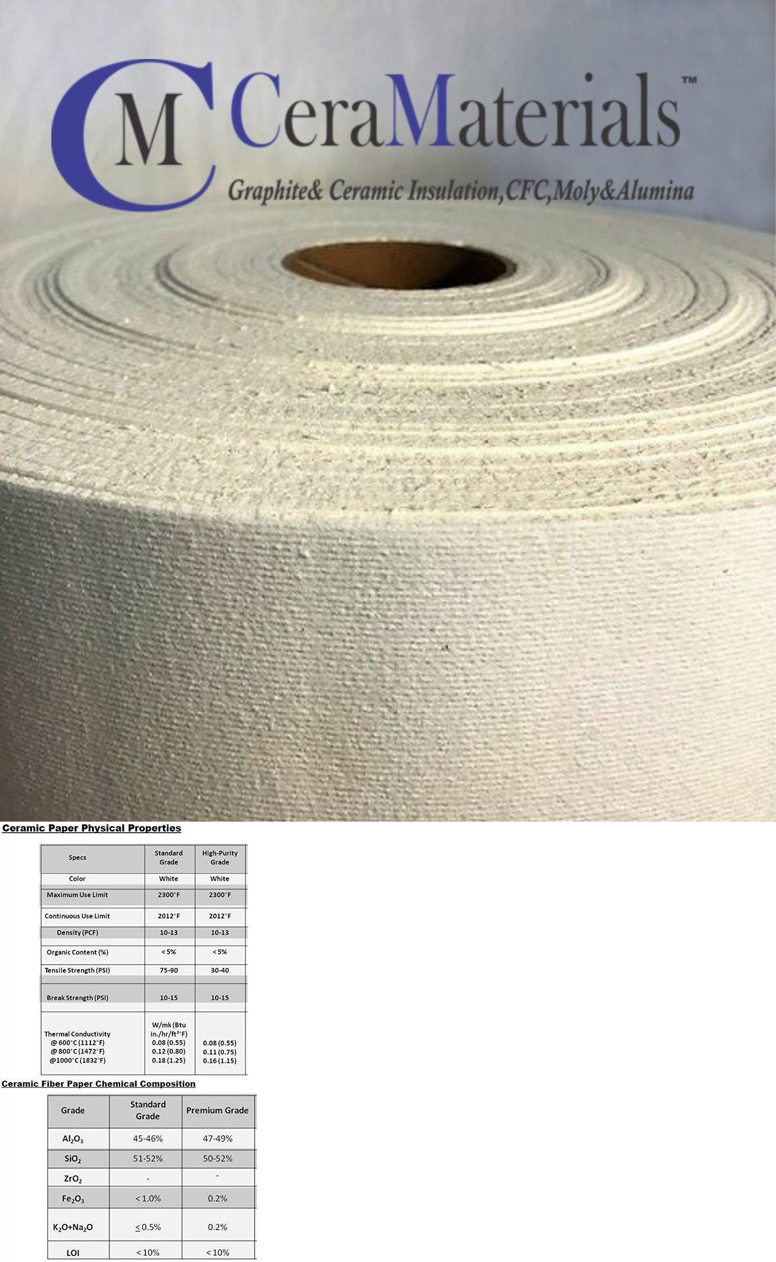 Kaowool 1 4 X 48 X 25 Ceramic Fiber Paper 500 Grade Thermal Ceramics 2300f Ebay Ceramic Fiber Ceramics Fiber