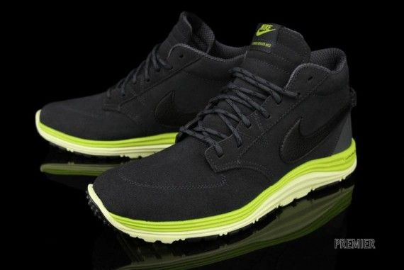 6c8102f3d76e Nike Lunar Braata Mid OMS - Anthracite   Atomic Green