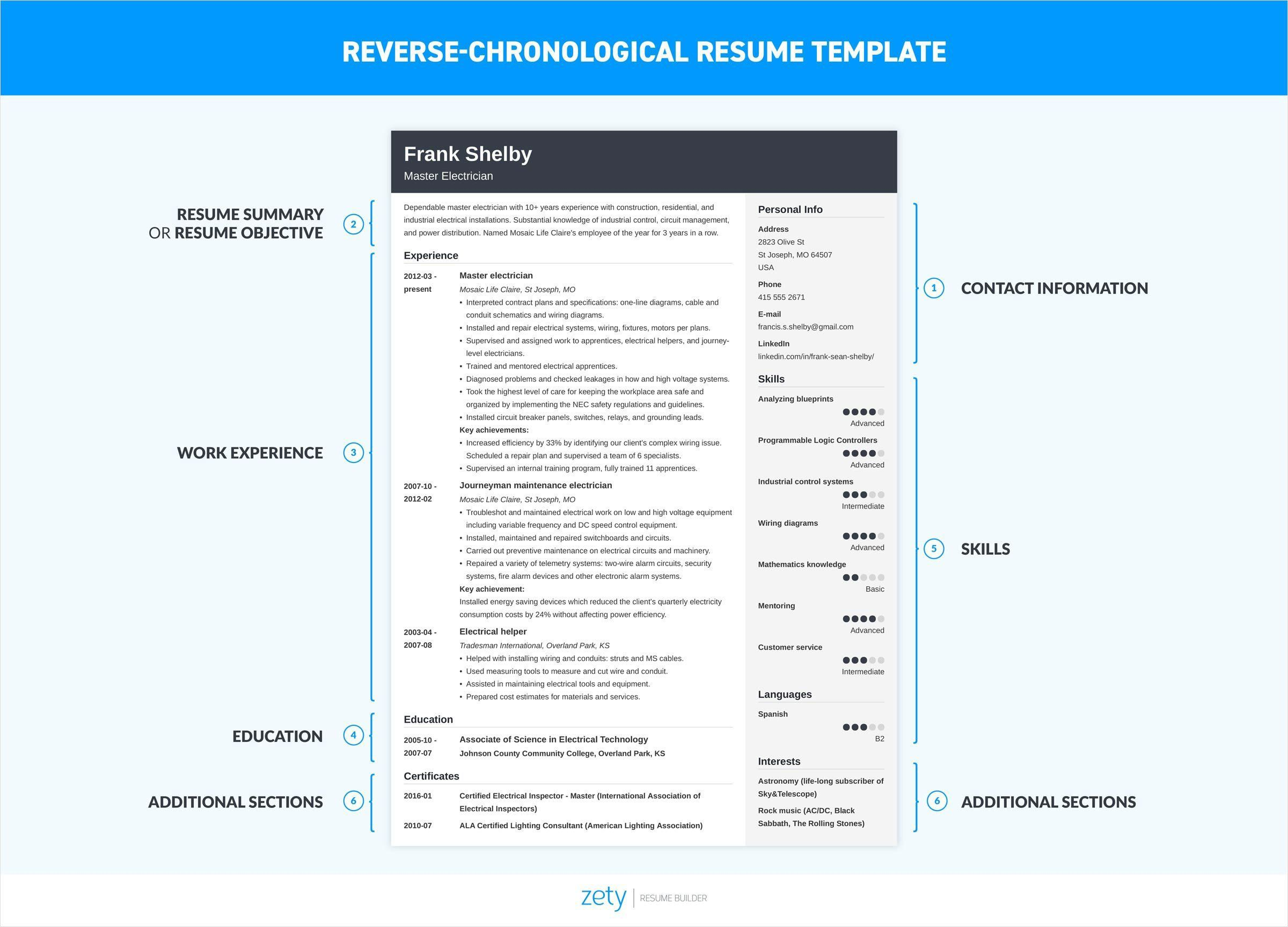 The Chronological Resume Is A Traditional Resume Format Emphasizes Your Duties Experienc Chronological Resume Chronological Resume Template How To Make Resume