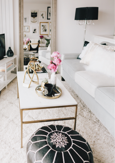 Black White Gold Modern Glam Apartment Decor Glam Apartment