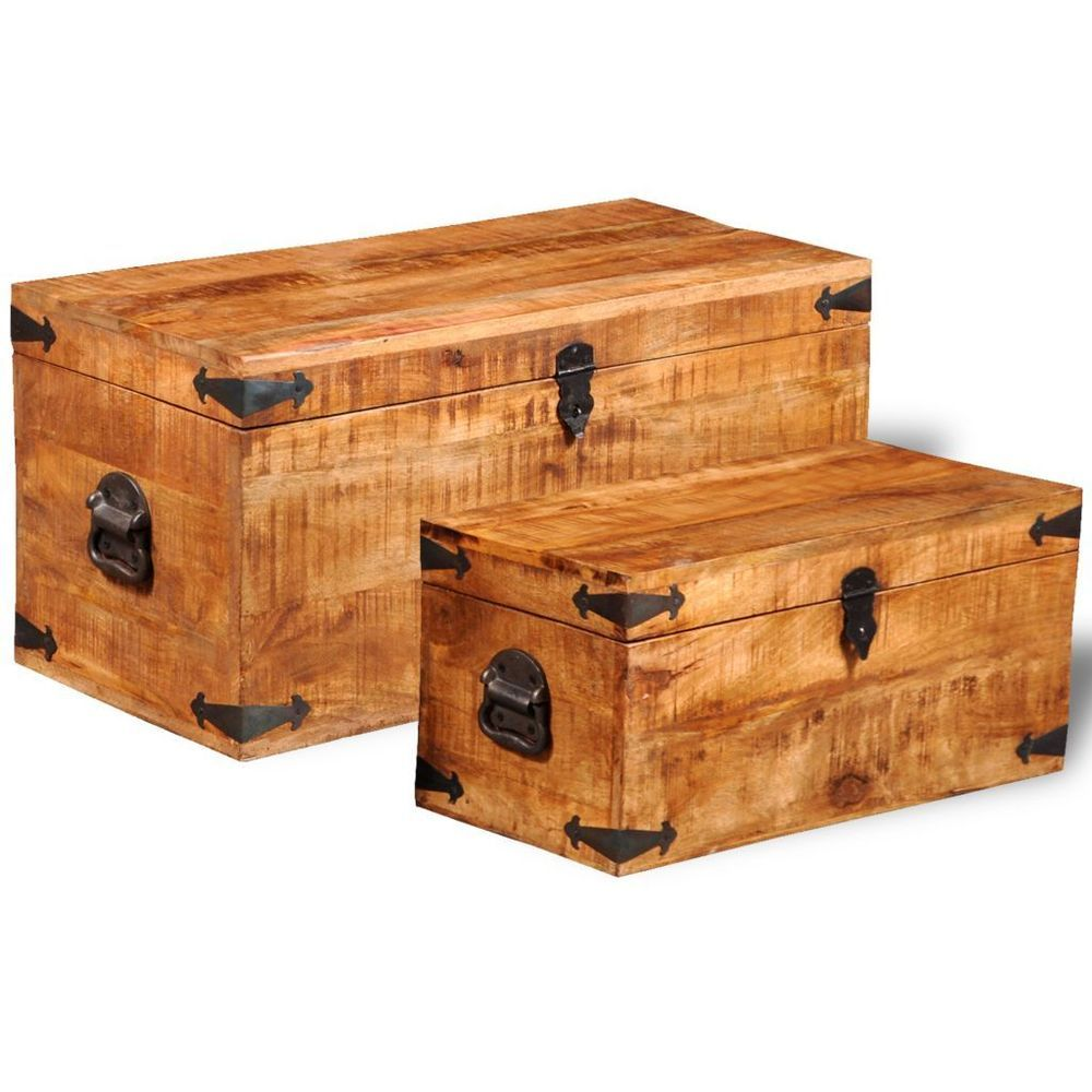 Vintage Wooden Chests Antique Trunk Storage Box Solid Wood Handmade Furniture Wood Trunk Wooden Trunks Wooden Storage