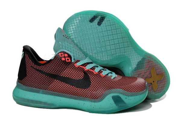 a9c5cd60b039 Boys Kobe 10 X Easter Hot Lava Sunset Glow Green Black ...