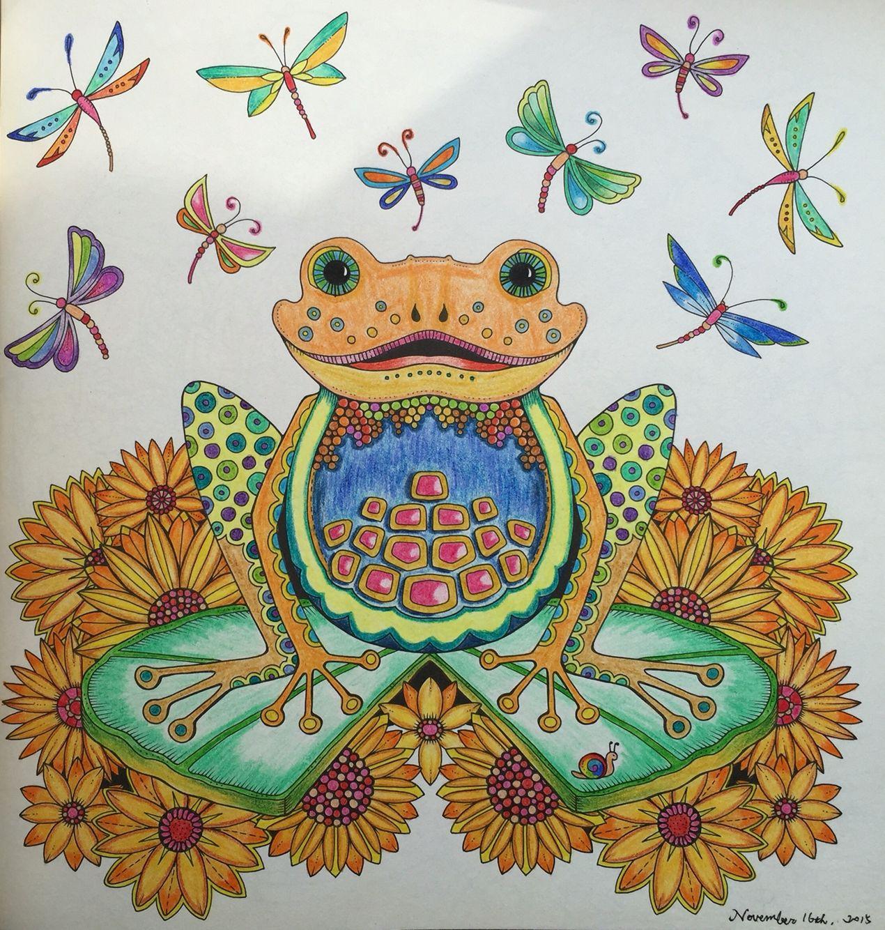 Autumn Frog Adult ColoringColoring BooksColouringJohanna