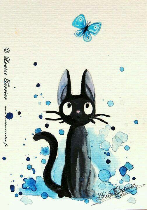 スタジオジブリ おしゃれまとめの人気アイデア Pinterest かのん 響野 2020 水彩画のアート ジブリ イラスト 黒猫のアート