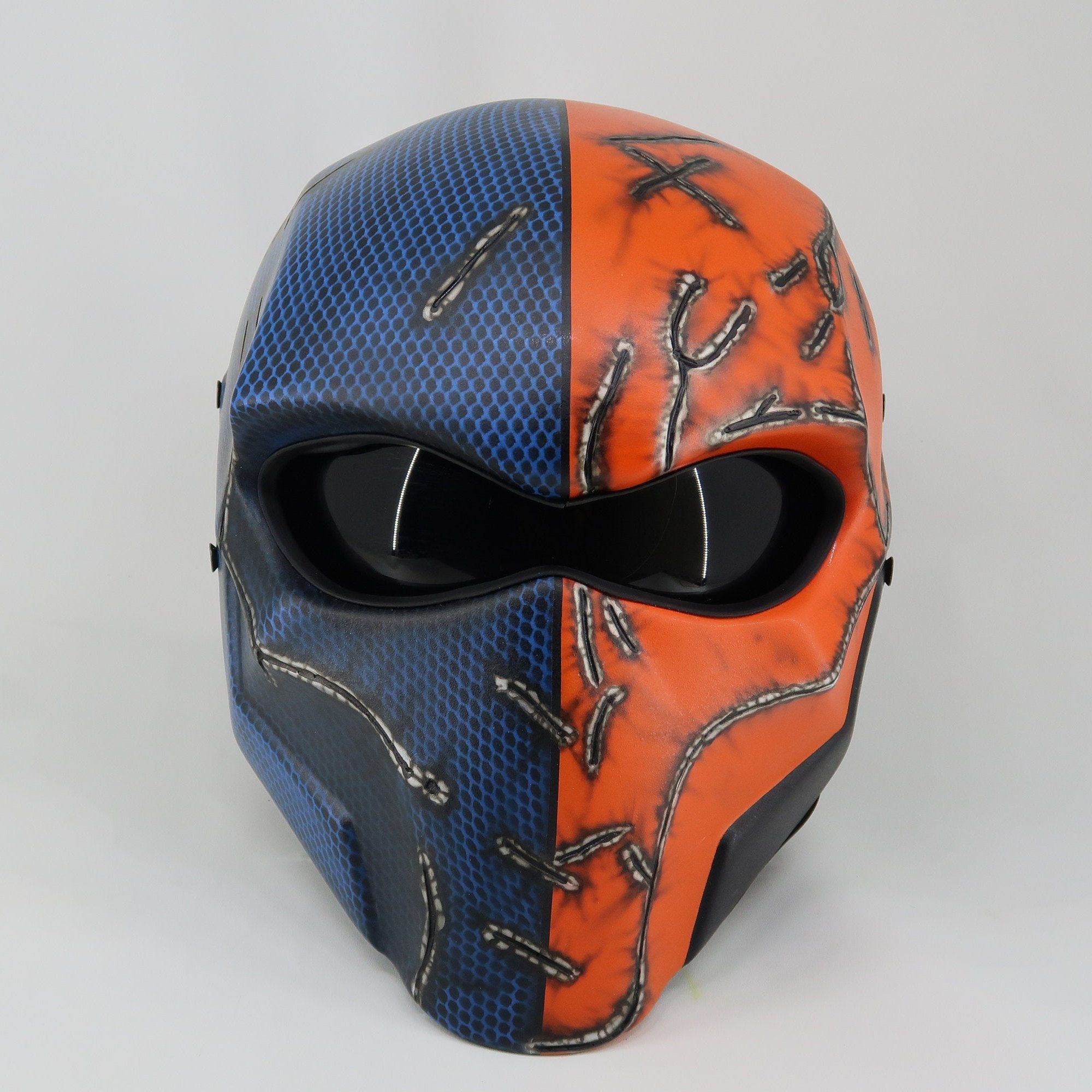 Deadpool Motorcycle Custom Helmet DOT /& ECE Certified with LED Light /& Switch