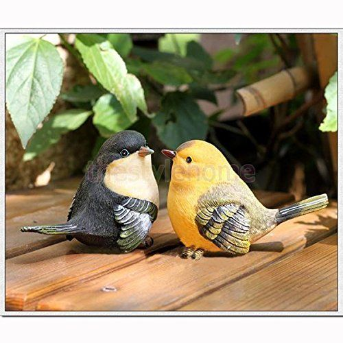 2PCS Vivid Creative Resin Garden Loyout Decor Collectables Emulation Birds Gifts >>> Read more reviews of the product by visiting the link on the image.(This is an Amazon affiliate link and I receive a commission for the sales)