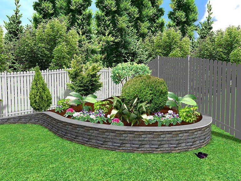 Economico cantero jardines bonitos pinterest for Jardines pequenos y bonitos