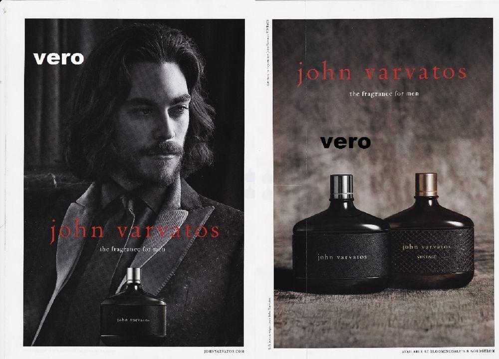 JOHN VARVATOS 2014 print ad parfum FRAGRANCE PERFUME with sample ...