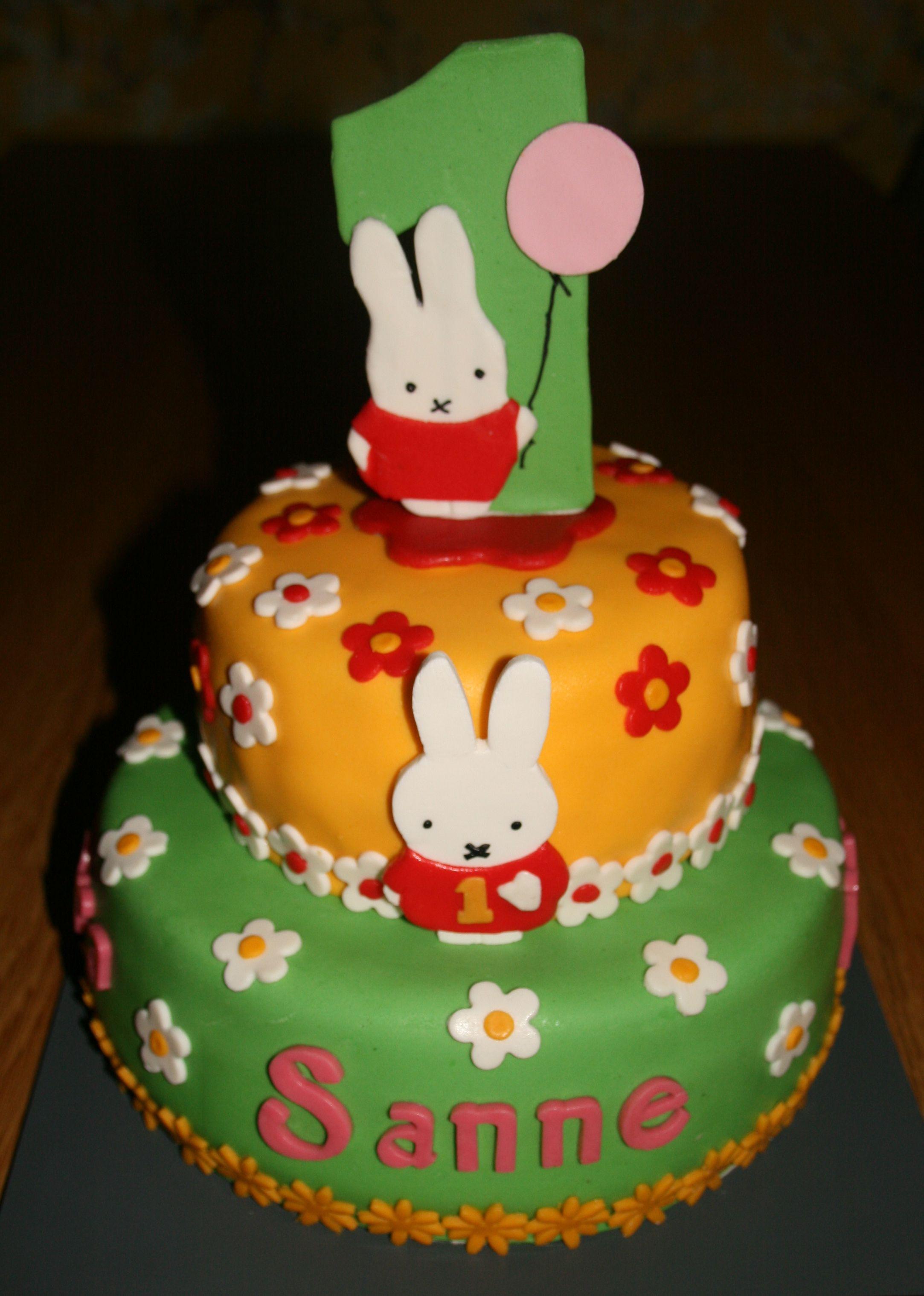 Nijntje taart voor Sanne haar 1e verjaardag