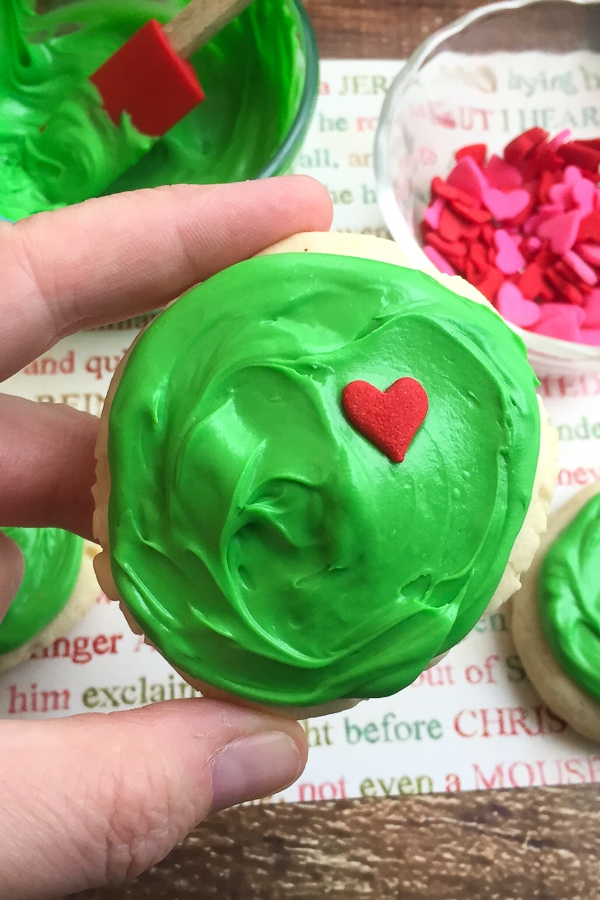 Grinch Sugar Cookies #grinchcookies