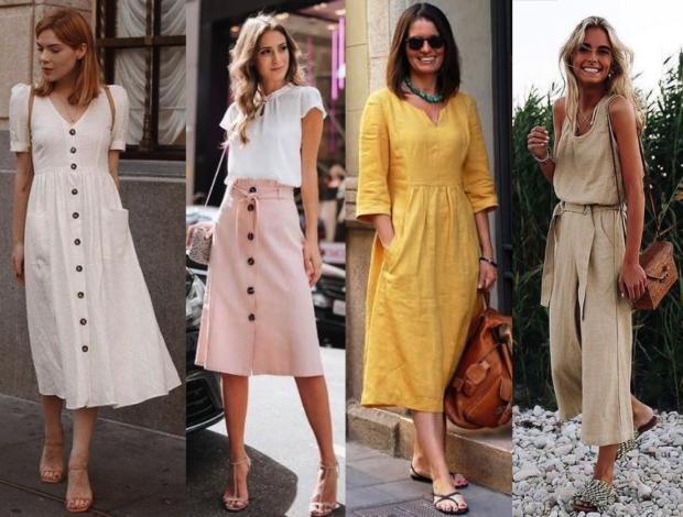 e95c300b6 Verão 2019: Linho, o tecido da vez | COSTURA | Vestidos de linho ...