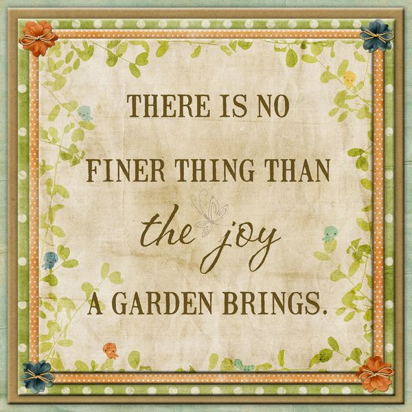 There Is No Finer Thing Than The Joy A Garden Brings Garden Joy