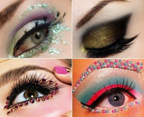 Party Eye Makeup With Eyelash