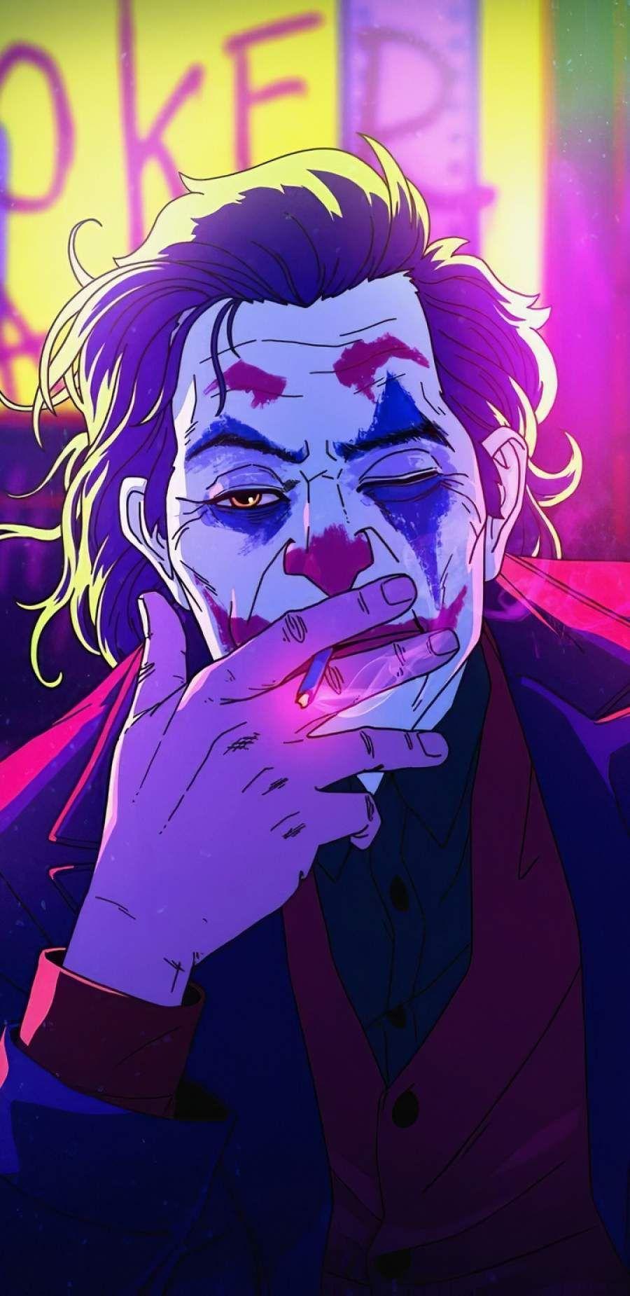 Joker Neonic Art iPhone Wallpaper in 2020 Joker