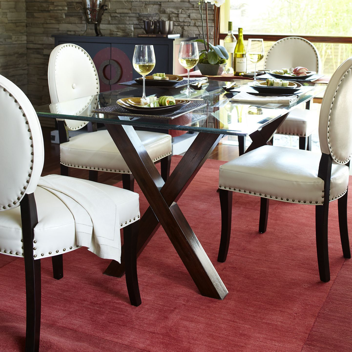 Swell Cadence Ivory Dining Chair With Espresso Wood Products Caraccident5 Cool Chair Designs And Ideas Caraccident5Info