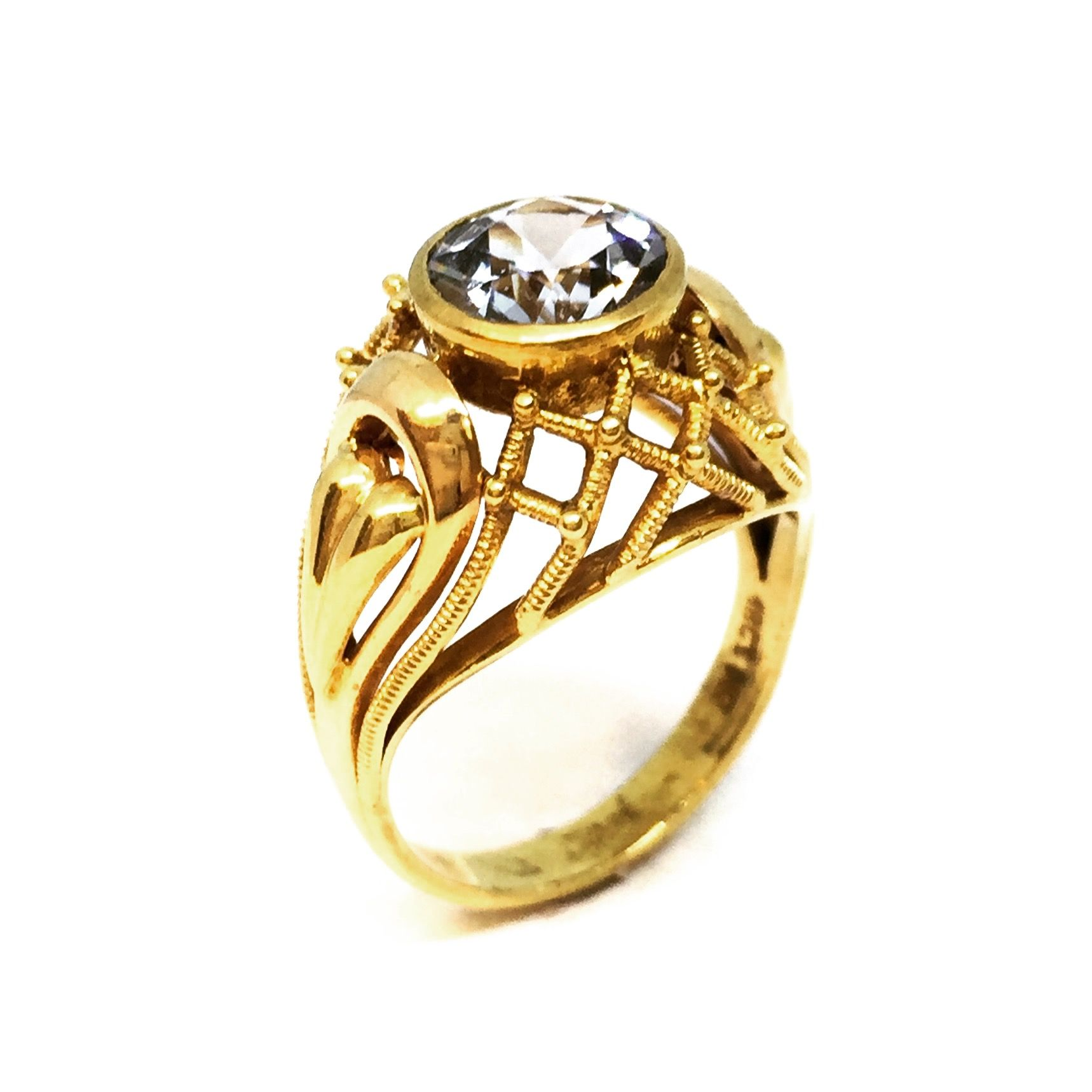 share diamond original bluestone p ring in gold the price luben white sapphire