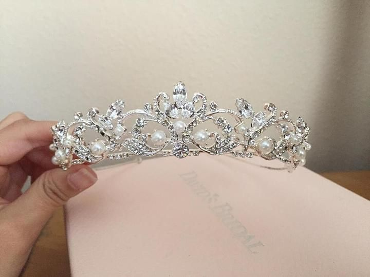 ff104ac5859562 David's Bridal Silver Rhinestone Tiara 78% off retail | Crowns ...