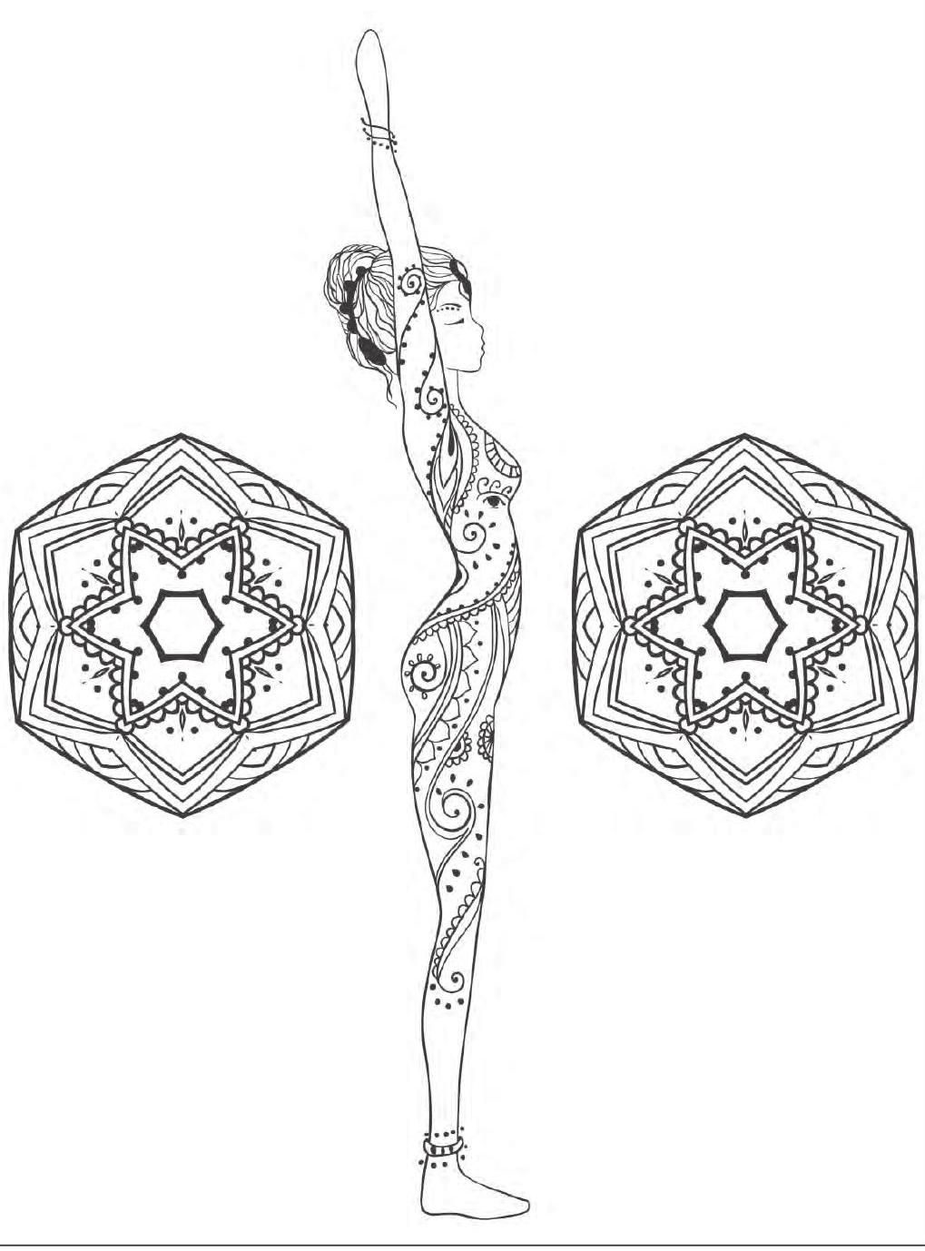 Yoga And Meditation Coloring Book For Adults With Yoga Poses And Mandalas Yoga Coloring Book Coloring Books Coloring Pages [ 1378 x 1019 Pixel ]