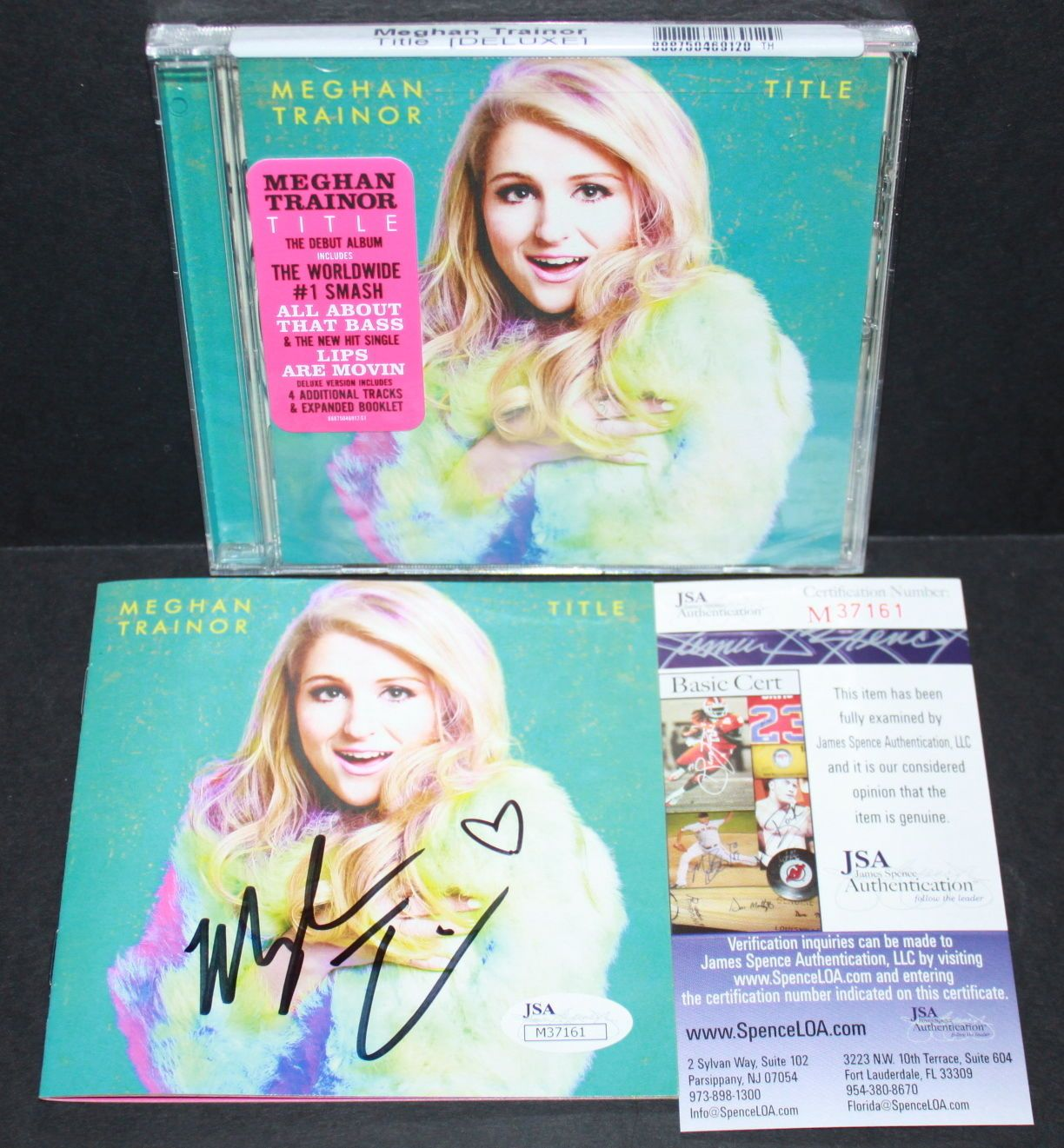 JSA Meghan Trainor Signed TITLE Booklet w/ New Sealed CD Spence COA HOT!